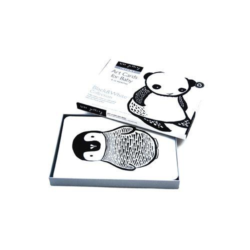 Zestaw czarno-białych kart dla dzieci (czarno-białe)