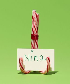 Candy Cane Place Card Holders - good base idea to start w