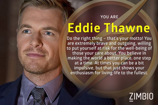 In the world of 'The Flash,' I'm Eddie Thawne! Who are you?null - Quiz