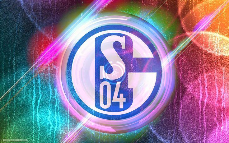 fc schalke 04 | Bunte abstrakten FC Schalke 04 hintergrund mit logo und helle lichter ...