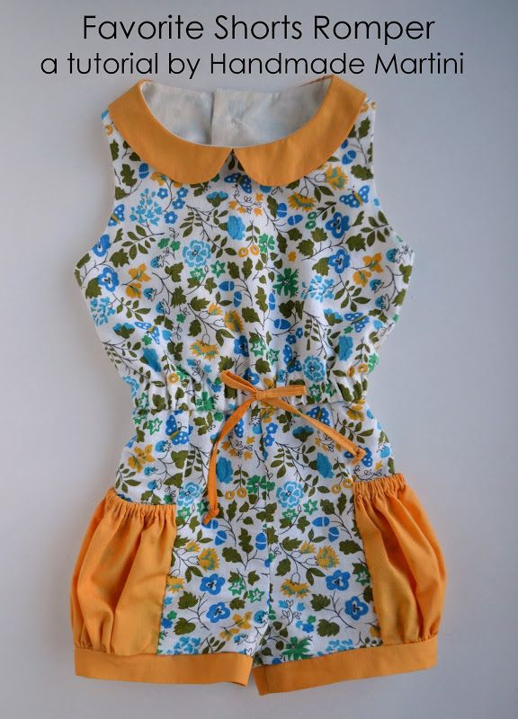 Favorite Shorts Romper with Pockets Pattern + Tutorial by Handmade Martini #sewing #tutorial