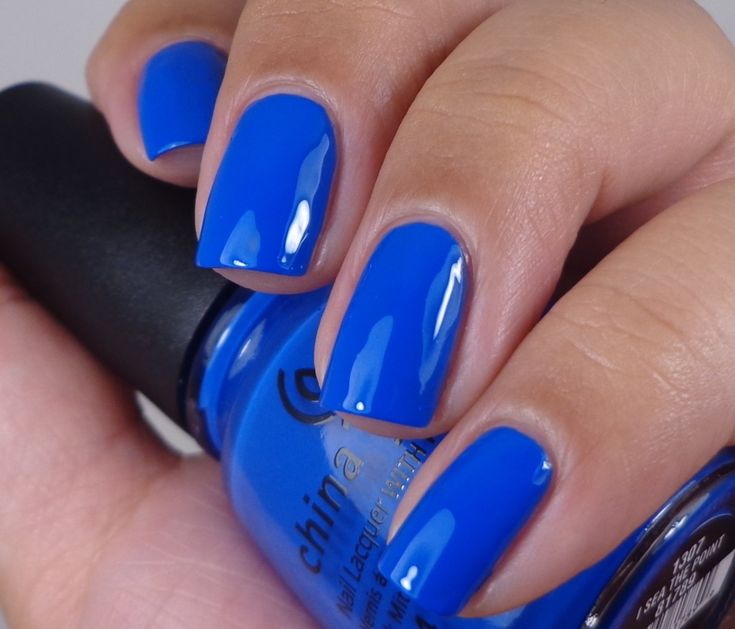China Glaze: ♥ I Sea The Point ♥  China Glaze Off Shore Collection Summer 2014. Cobalt Blue nail polish.