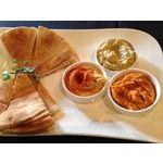 Hummus Trio- Red Pepper Hummus, Artichoke Hummus and Traditional Hummus