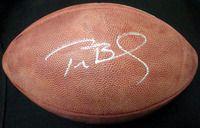 Tom Brady Autographed NFL Leather Football New England Patriots TriStar Stock