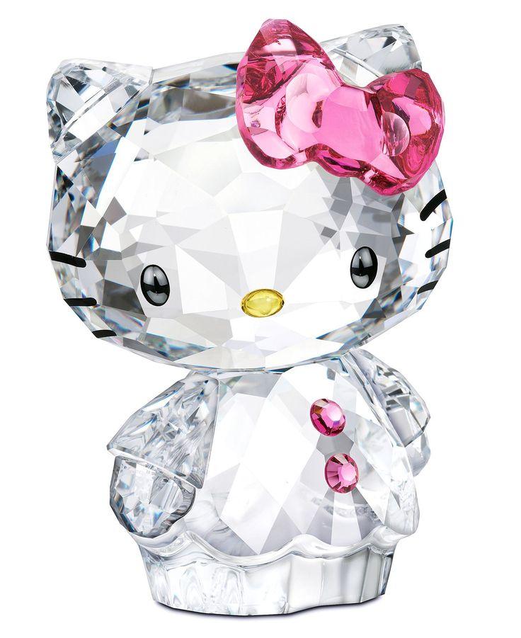 Hello Kitty Home Decor: Swarovski Collectible Figurine, Hello Kitty Bow