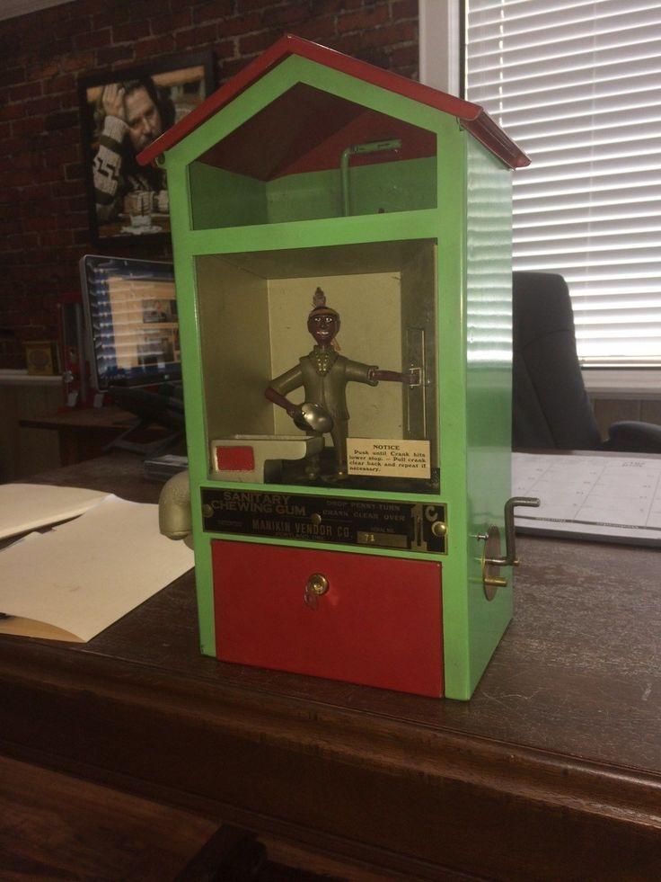 Manikin Gumball Vendor Machine with Indian figure   eBay
