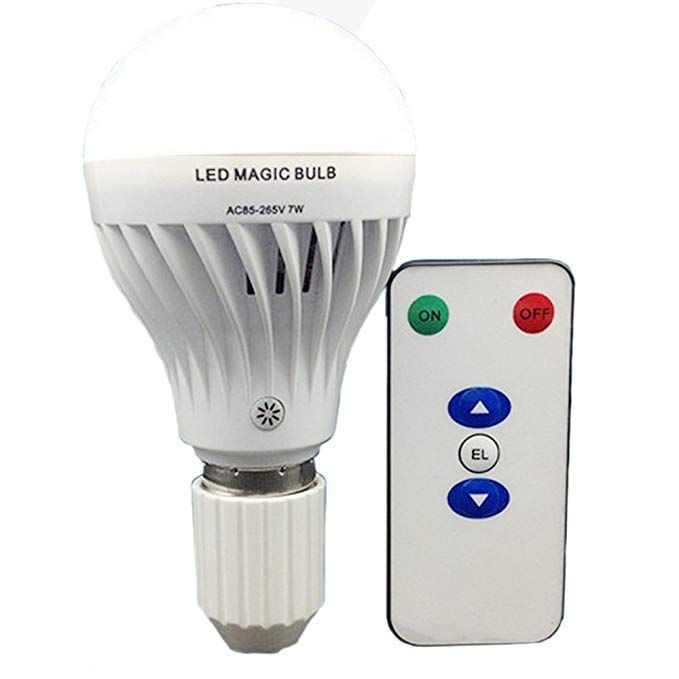 Bsod Ac 85 265v 7w Led Magic Bulb With Remote Controller White Emergency Light With Rechargeable Built In Battery E27 Led Bulb Emergency Lighting Dimmable Led
