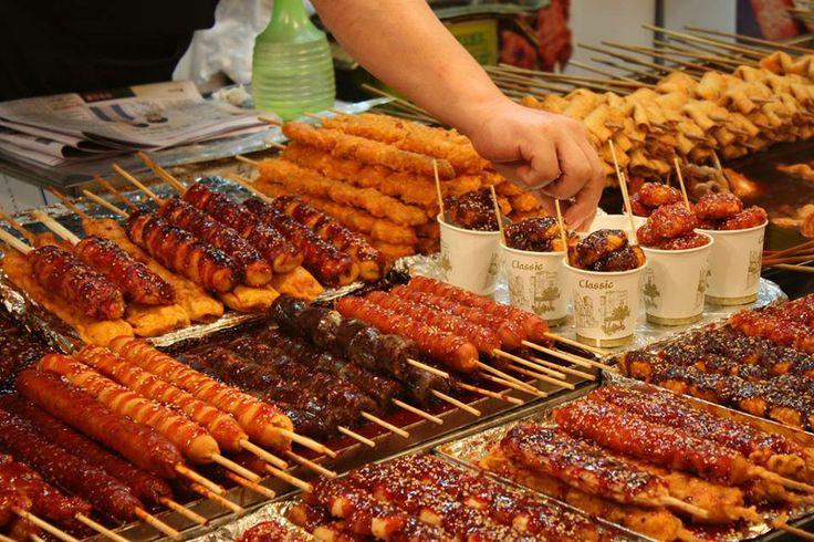 Comida callejera en Seúl.