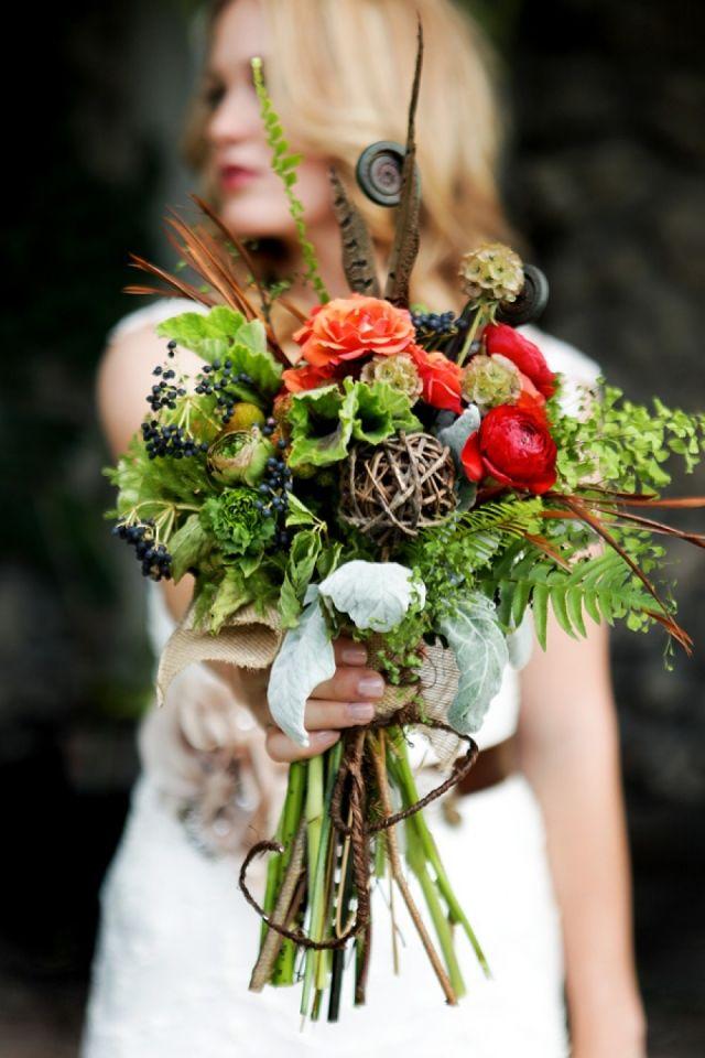 Geweldig bruidsboeket met aparte bloemen! Love it!