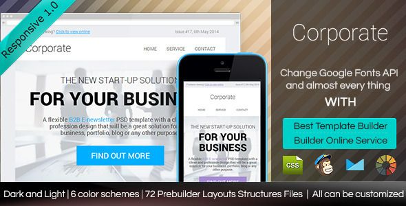 Corporate - Responsive Email Template With Builder