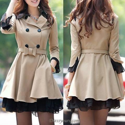 nice full skirt pea coat   FASHiON ⭐⭐⭐   Pinterest   Coats ...