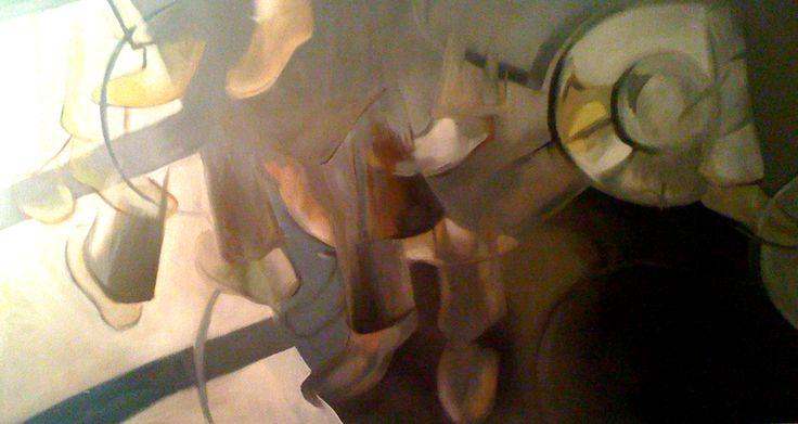 Street - olio su tela (s130x70(