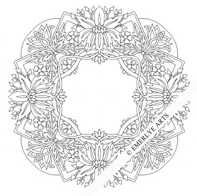 poinsettia coloring pages for adults - photo#26