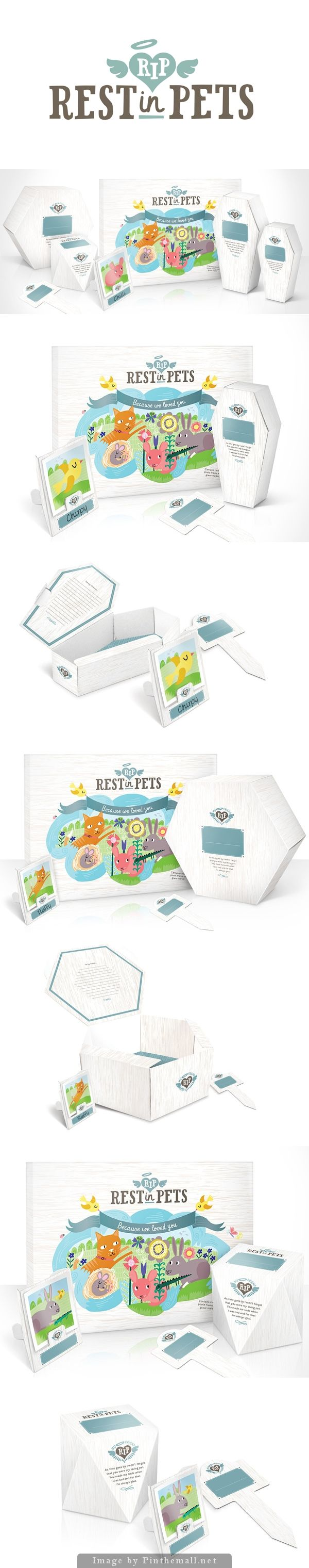 Rest In Pets: Biodegradable cardboard pet caskets by Mat Bogust made from #packaging