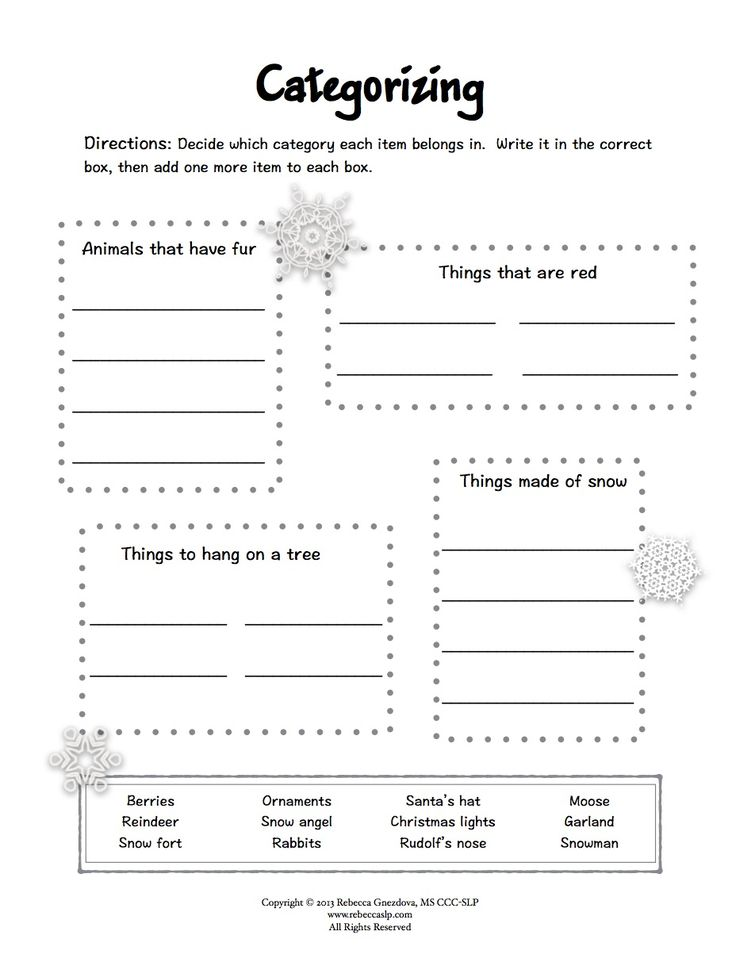 *Freebie* Expressive Language Worksheets