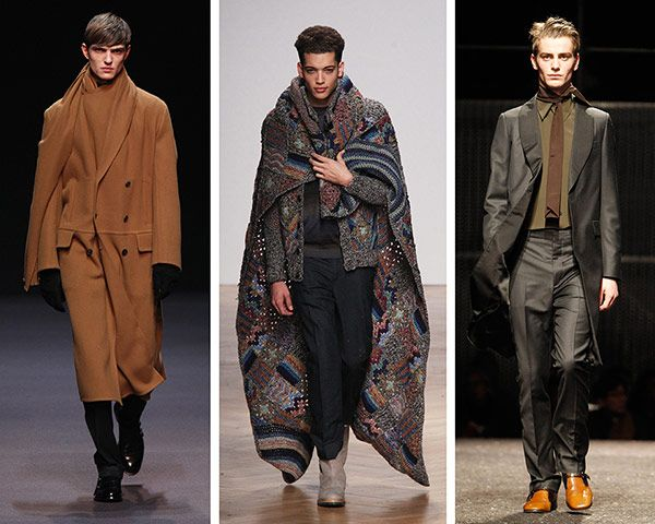 THE accessory for winter 2014 – worn every which way except as you traditionally would expect – were scarves. Ties were worn as narrow scarves as Prada, Stefano Pilato extended the lapel into asymmetric flowing scarves on coats for Ermenegildo Zegna. At Missoni, crocheted blankets were worn like capes to suggest the early-rising-slept-in-my-camper-van surfers who inspired the collection