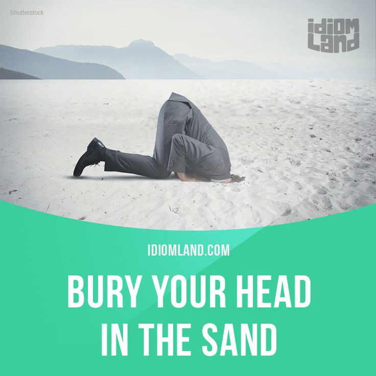 """Bury your head in the sand"" means ""to ignore an unpleasant issue or problem"". Example: Stop burying your head in the sand. Look at the statistics on smoking and cancer. Get our apps for learning English: learzing.com"