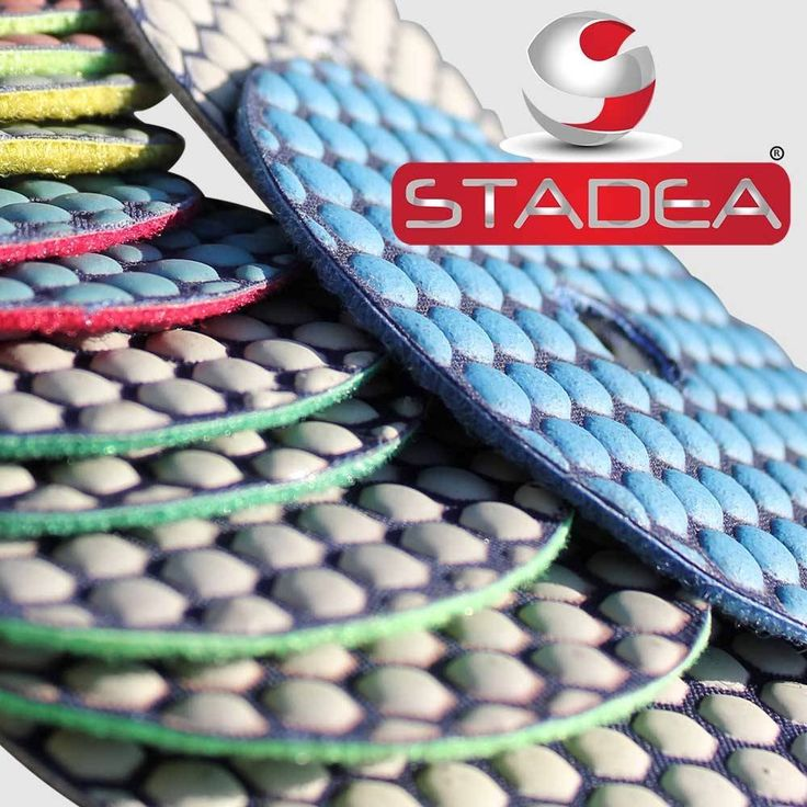 """dry diamond polishing pads by stadea - 4"""" Set of 8 Pads. STADEA - Series Ultra C, 4"""" dry diamond polishing pads set of 8 pieces granite pads. 1 piece pad each for Grit (50, 100, 200, 400, 800, 1500, 3000, Black Buff) diamond pads, a polishing pads set designed for granite polishing. Flexible dry diamond polishing pads for granite polishing for mirror like finish. Works great for other stones, marble, concrete, terrazzo, travertine polishing as well. Aggressive durable pads with 1.2 mm..."""