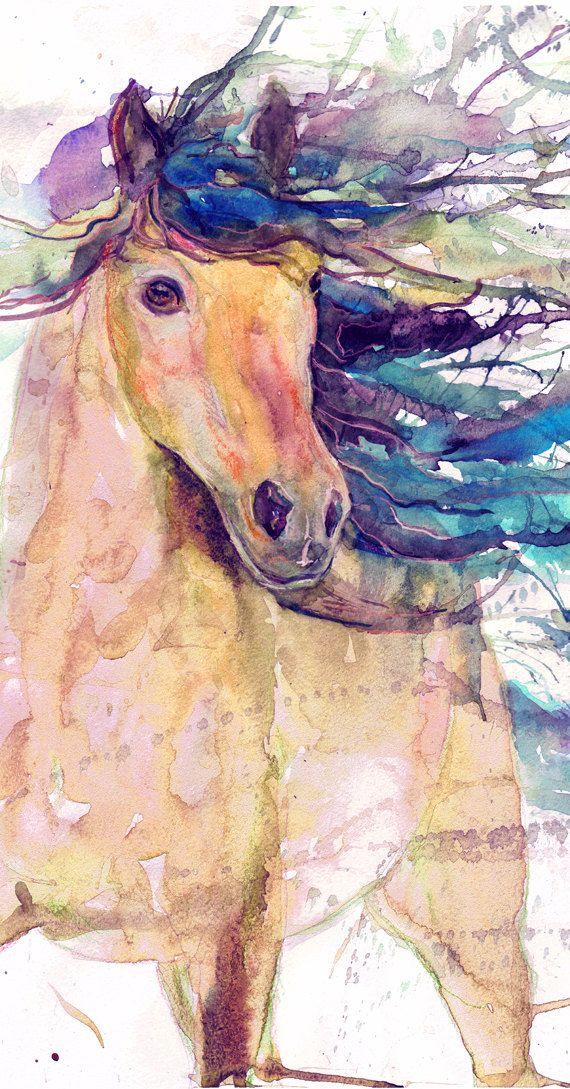Arte de impresión ecuestre equino caballo caballo por ValrArt