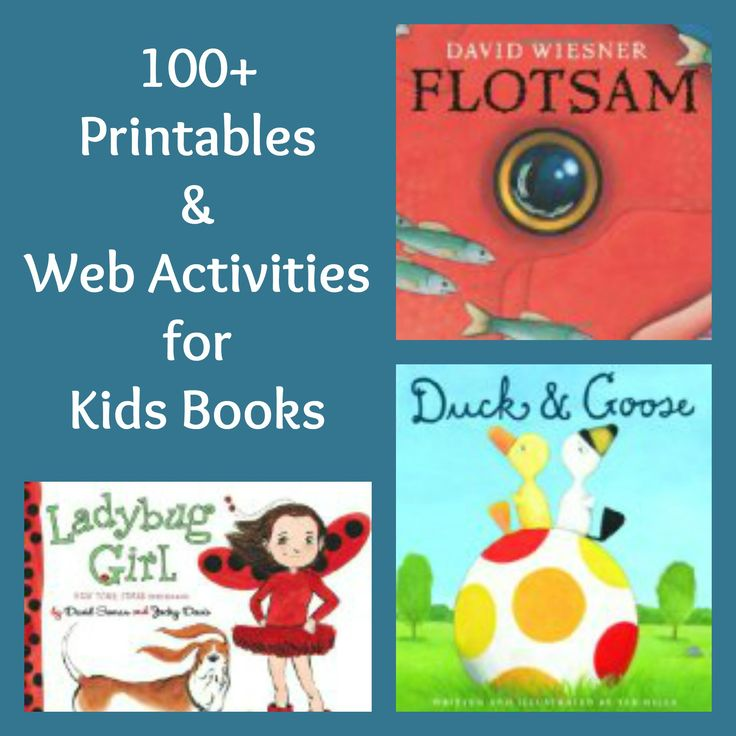 Love these!  More than 100 printables and games all matched to favorite kids books and found on children's book publishers websites - wow!