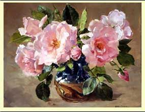 Ann Cotterill   OIL                                New Dawn Roses