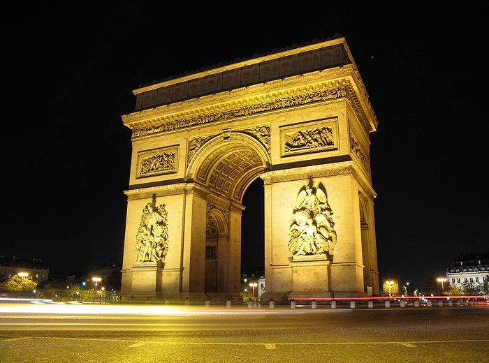 The Arc de Triomphe is one of the most famous monuments in Paris. It stands in the centre of the Place Charles de Gaulle, at the western end of the Champs-Élysées. There is a smaller arch, the Arc de Triomphe du Carrousel, which stands west of the Louvre. The Arc de Triomphe honours those who fought and died for France in the French Revolutionary and the Napoleonic Wars, with the names of all French victories and generals inscribed on its inner and outer surfaces. Beneath its vault lies the…