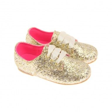 Billieblush Junior Girls Gold Glitter Shoes