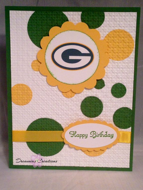 23 best packer cards images on pinterest diy cards homemade cards great for any green bay packers fan this by dreamiascreations 425 handmade birthday cardsbirthday bookmarktalkfo Gallery