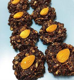 Portakallı ve bademli yulaflı çikolata