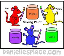 Activity Sheet for the Book Mouse Paint Website also good for Christian/ Sunday School Crafts!