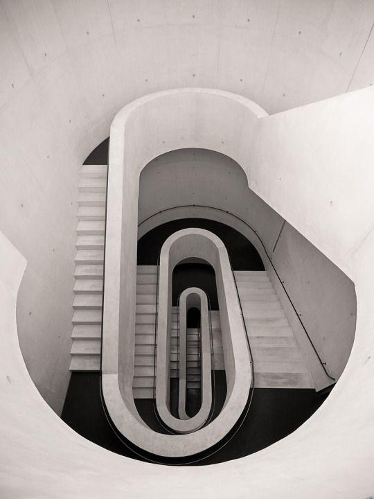 Stair Well, Underground Car Park, Stadt Theater in Darmstadt, Germany.