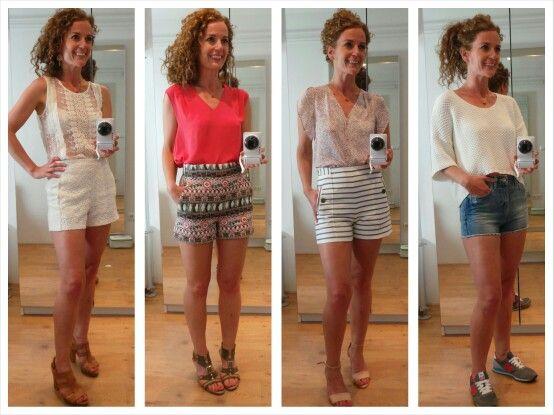 ZOMERTREND 2014: TAILLE SHORTS   De hoge taille shorts; Een meer geklede manier om een zomerse korte broek te dragen en toepasbaar in veel stijlen. Een paar leuke benen eronder is wel wenselijk ;-)