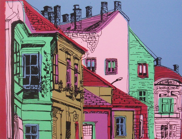 Reductive Sreen Print2 by Inna Zilberman, via Behance