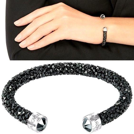 $10 less than swarovski store plus free ship! REAL SWAROVSKI Crystaldust Cuff Bracelet https://www.ebay.com/itm/222691860325     REAL SWAROVSKI  Crystaldust Cuff Bracelet Dark Crystals  #Swarovski