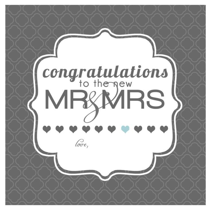Say Congrats With A Free Printable Wedding Card Wedding Gift Tags Printable Wedding Congratulations Card Wedding Greeting Cards