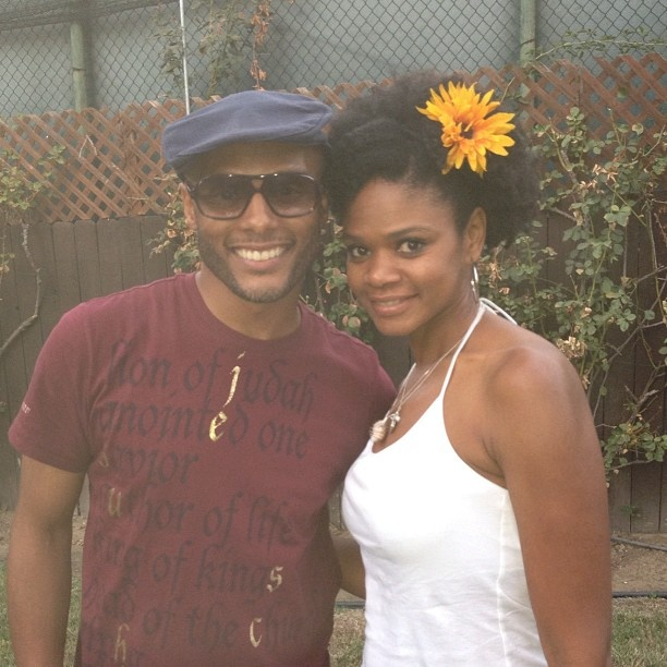 Fun in the summer sun with Kimberly Elise! Thanks Dawnn Lewis for throwing a great party! - @kennylattimore- #webstagram