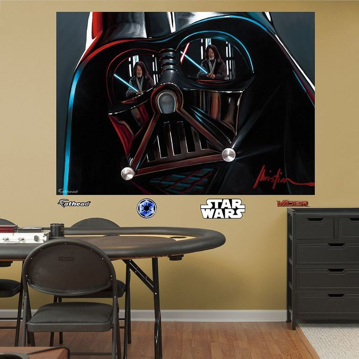 Star Wars Darth Vader Helmet Mural Wall Decal by Fathead, Multicolor