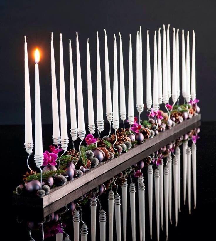 Mooie manier van kaarsen verwerken ...