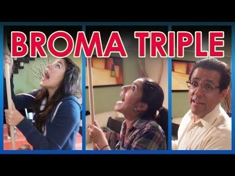 "Broma al triple ""Baño en la sala"" | Videos de risa 2013 | Bromas graciosas | Videos Polinesios risa - YouTube"