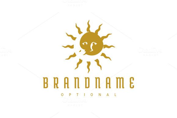 For sale. Only $29 - arts, sun, moon, dream, day, night, cycle, compass, eclipse, star, energy, golden, gold, memorable, artistic, creative, simple, modern, duality, solar, lunar, disc, crescent, stellar, face, personality, character, astronomy, negative space, logo, design, template,