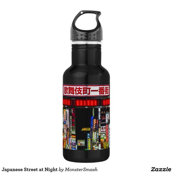 Japanese Street at Night 532 Ml Water Bottle