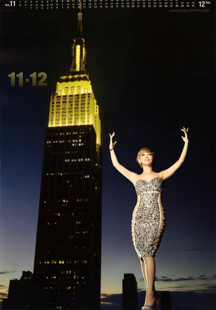 Ayumi Hamasaki's 2012 calendar