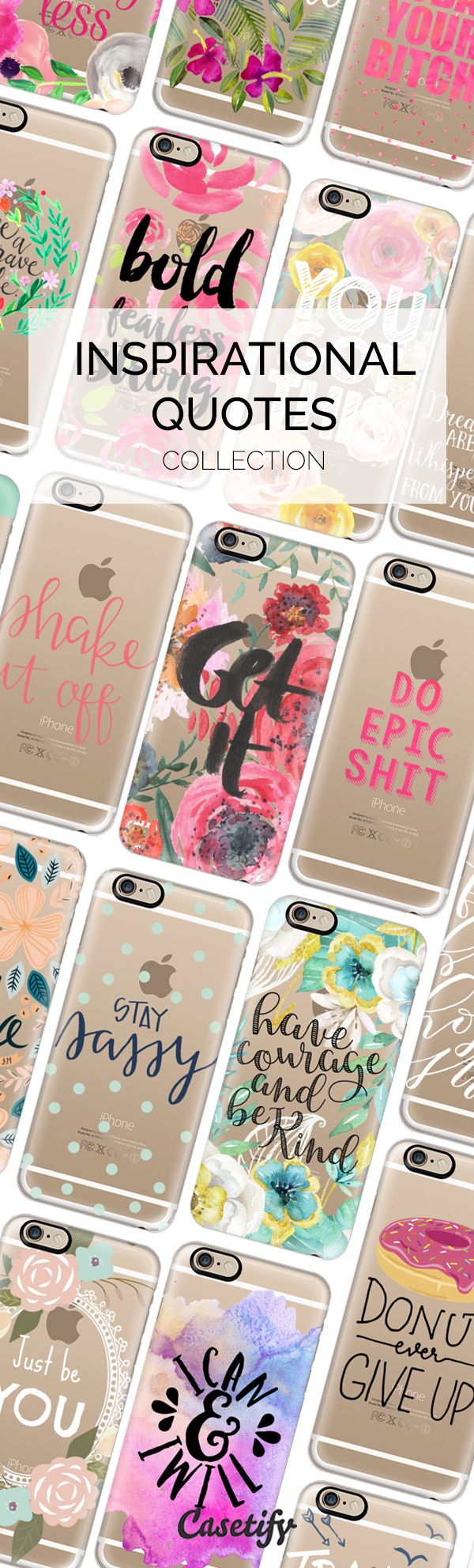 Say goodbye to 2015 and hello #2016 with some serious motivational designs. Shop them all here: https://www.casetify.com/collections/inspirational_quotes#/