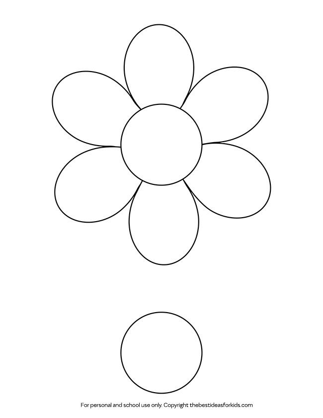 Flower Template Flower Template Easy Mother S Day Crafts