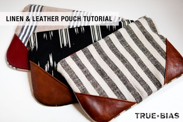I love things that I can make with leftover fabric from my stash. I was recently looking for a gift idea for a good friend of mine and came up with this tutorial for a little pouch / clutch with leath