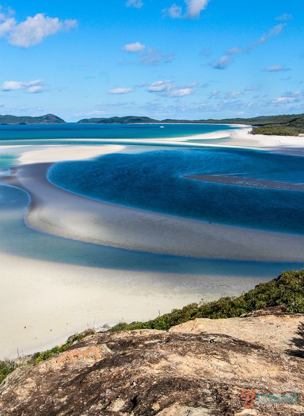 Whitehaven Beach, Queensland, Australia. One of the many beautiful islands in the Whitsunday Group of islands & these Colours are so true to life.