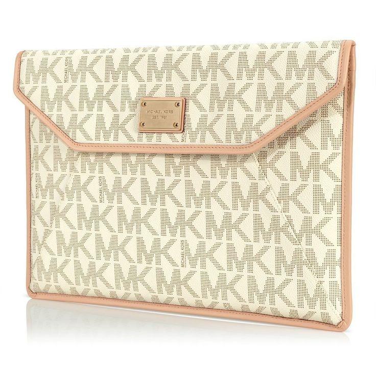 "Michael Kors Macbook Air 11"" Sleeve/Clutch - Vanilla Monogram"