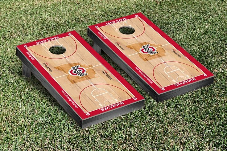 Ohio State Buckeyes Basketball Court Cornhole Game Set