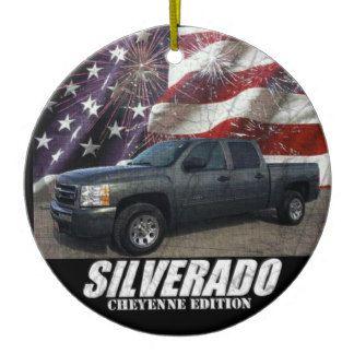 2011 Silverado 1500 Crew Cab LS Cheyenne Edition Ceramic Ornament