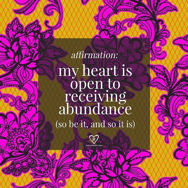 #AFFIRMATION: my heart is open to receiving abundance. So be it and so it is. Say this affirmation over and over again until your vibration is raised enough to attract prosperity into your life. Remember: YOU ARE WORTHY